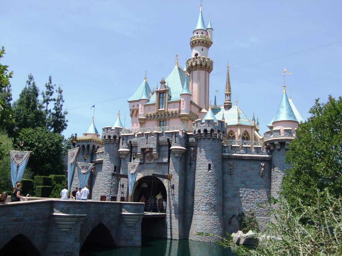 Het kasteel midden in Disneyland Anaheim