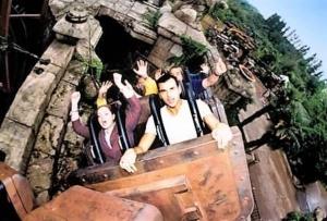 De achtbaan van Indiana Jones in Disneyland Paris