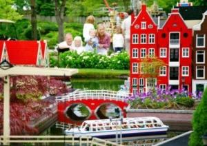 Gebouwen gemaakt van Legoblokjes: Miniland in Legoland