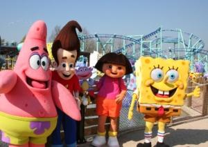 De sterren van Nickelodeon in Movie Park Germany