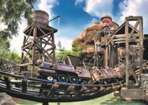 Een snelle treinrit in Colorado Adventure in Phantasialand