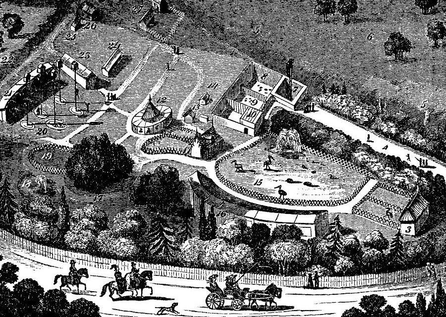 Dierentuin van Londen in 1828